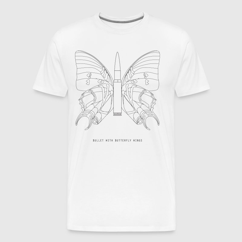Bullet with butterfly wings - Men's Premium T-Shirt