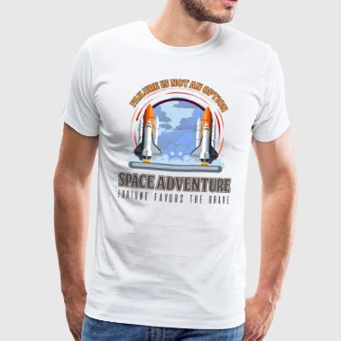 Milky Way Space Space Spaceship Astronaut Gift - Men's Premium T-Shirt