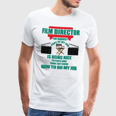 Angling Director - Film Director. The Hardest Part - Men's Premium T-Shirt