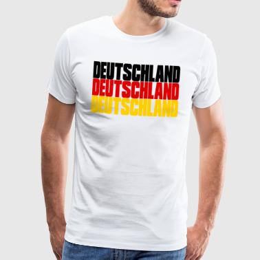 GERMANY in COUNTRY COLORS FLAG FAHR - Men's Premium T-Shirt