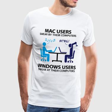 Apple Mac users swear by their computers - Men's Premium T-Shirt