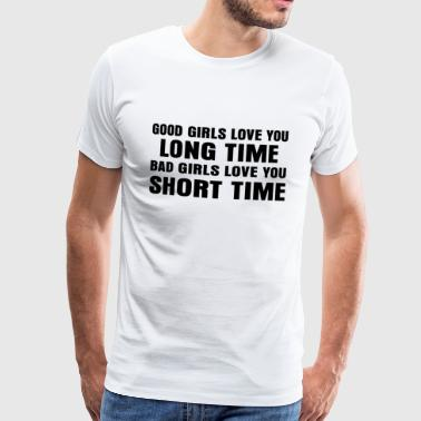 Long Time Short Time T-shirt - Mannen Premium T-shirt