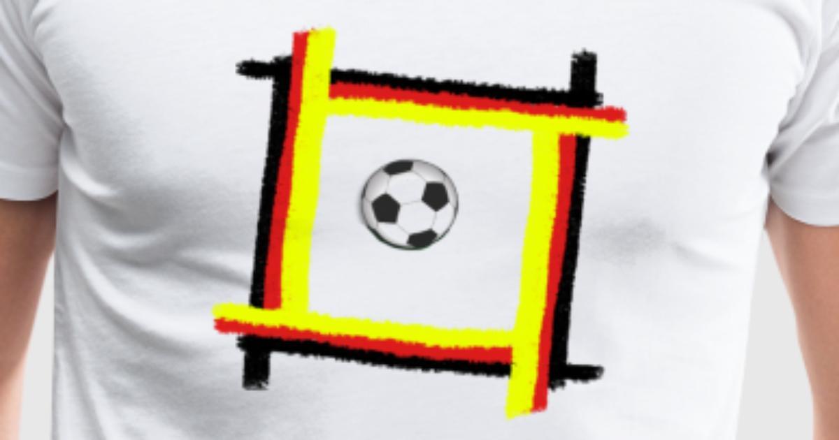 Fussball Schwarz rot gold Rahmen von Rich and Noble | Spreadshirt