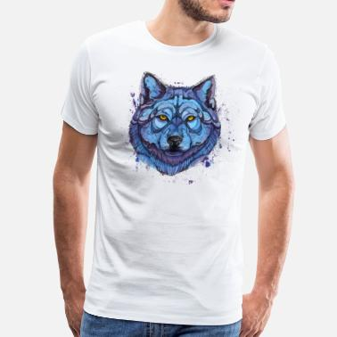 Collections wolf - Premium-T-shirt herr