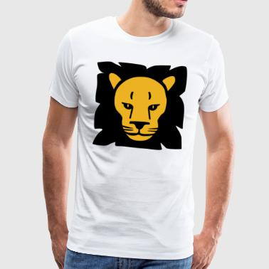 Lion Safari Horoskop Animal Wild Funny Gift - Herre premium T-shirt