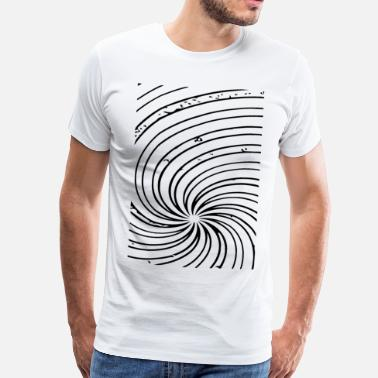 Swirl abstract pattern swirl - Men's Premium T-Shirt