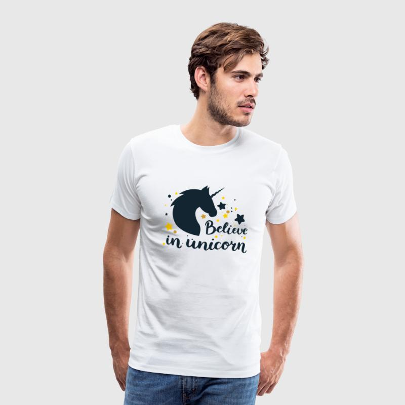 BELIEVE IN UNICORN - Männer Premium T-Shirt
