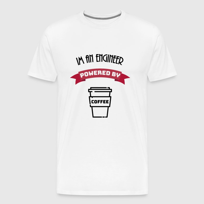 Engineer aangedreven door koffie - Mannen Premium T-shirt