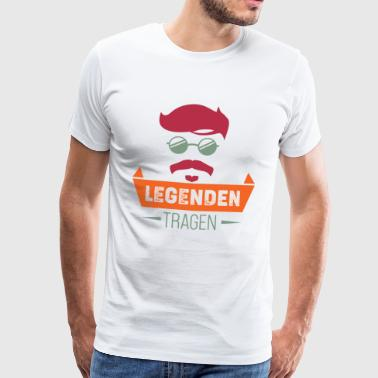 Legends bear barba - Camiseta premium hombre