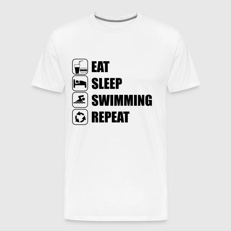 Eat Sleep Swimming Repeat natation - T-shirt Premium Homme