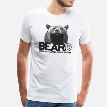 Ours Barbe Bear and beard / ours avec barbe - T-shirt Premium Homme