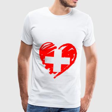 Swiss heart - Men's Premium T-Shirt