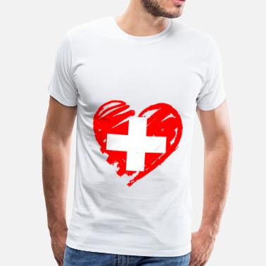 Swiss Cross Swiss heart - Men's Premium T-Shirt