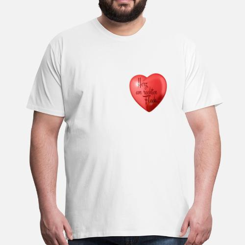 Heart In The Right Place Mens Premium T Shirt Spreadshirt