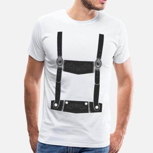bafe203b6f08e bretelles Lederhosen chemise T-shirt premium Homme   Spreadshirt