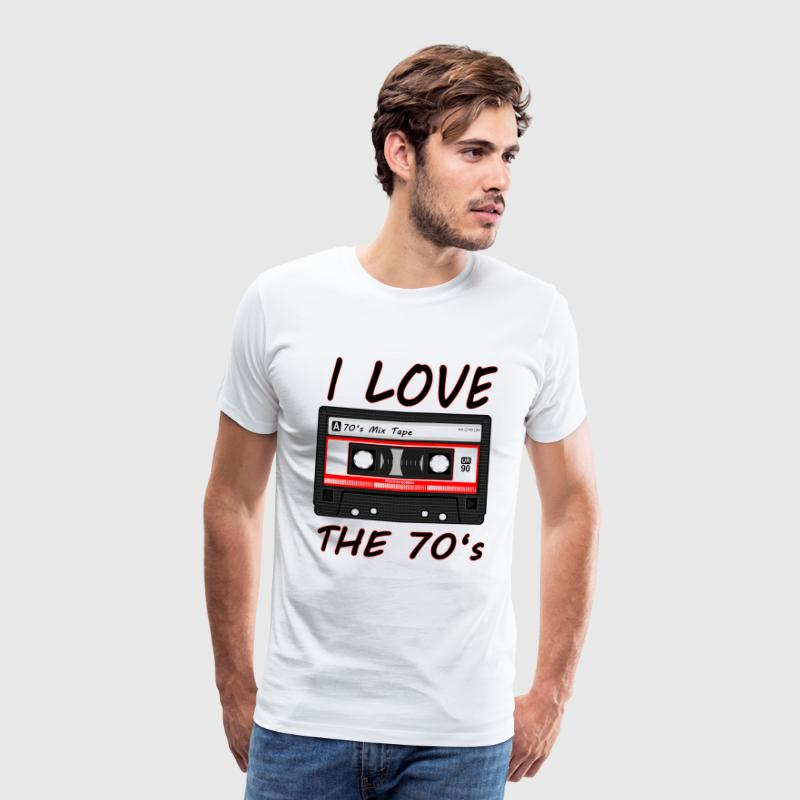 I Love The 70's T-shirt - Mannen Premium T-shirt