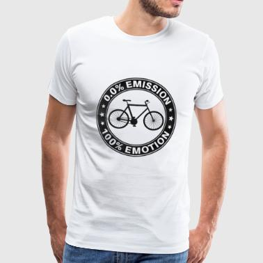 0% Emission 100% Emotion Funny Bicycle Shirt - T-shirt Premium Homme