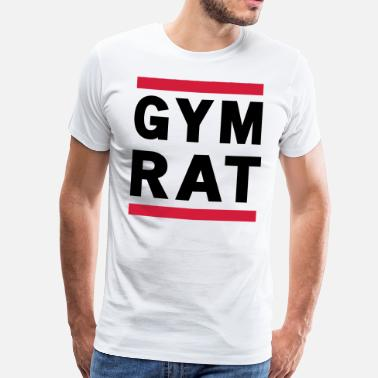 Rat Gym Rat - Men's Premium T-Shirt