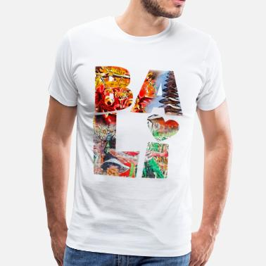 Bali BALI COLLAGE TYPOGRAPHY - T-shirt Premium Homme