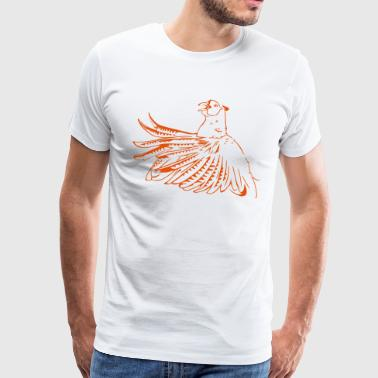 Pheasant - the peacock of the field - Men's Premium T-Shirt