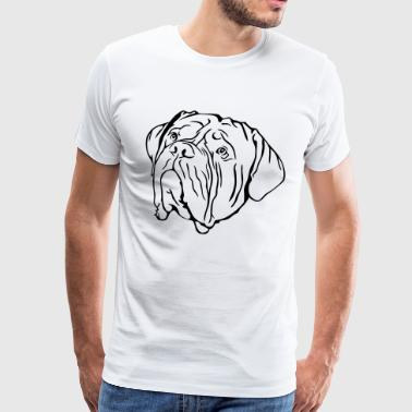 Dessin Dogue De Bordeaux Tête de Dogue de Bordeaux - T-shirt Premium Homme