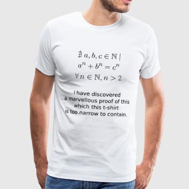 Mathematics Fermat's theorem - Men's Premium T-Shirt