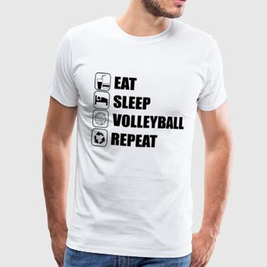 Eat Sleep Volleyball Repe - Camiseta premium hombre