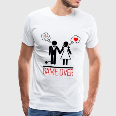 Game over - Couples - Bachelor - Men's Premium T-Shirt
