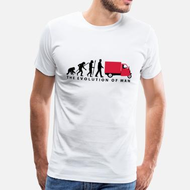 Dreirad evolution_of_man_Piaggio Ape_092014_b_2c - Männer Premium T-Shirt