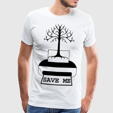 saveme Blak - Premium T-skjorte for menn