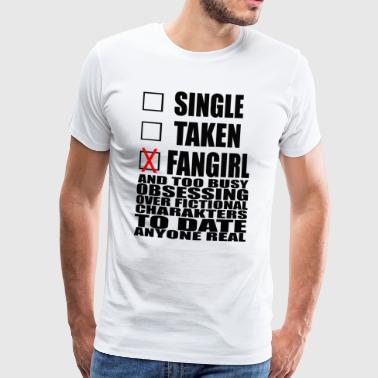 grappige spreuken single - Mannen Premium T-shirt