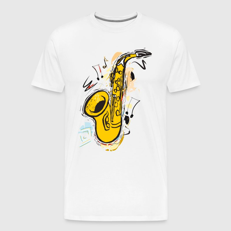 Sax Sparkling Sketch Drawing - Mannen Premium T-shirt