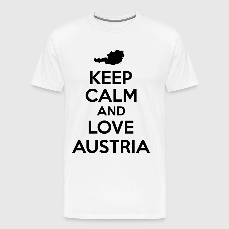 Keep calm and love Austria - Männer Premium T-Shirt