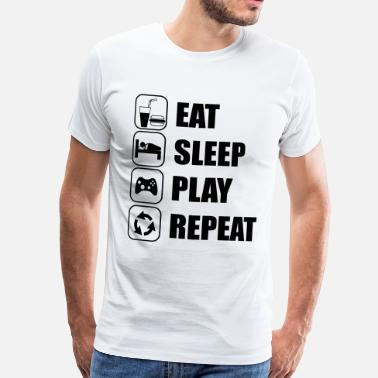 Geek Love Eat Sleep Play Repeat - Men's Premium T-Shirt