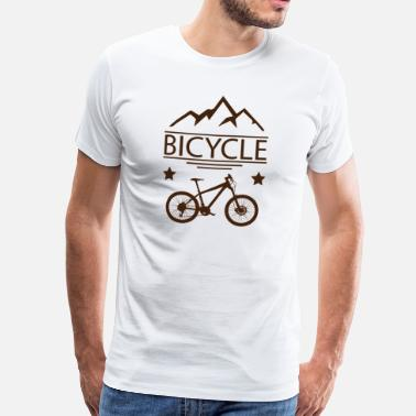 Tandem Bike Mountain Bike Bike Downhill Fietsen - Mannen Premium T-shirt