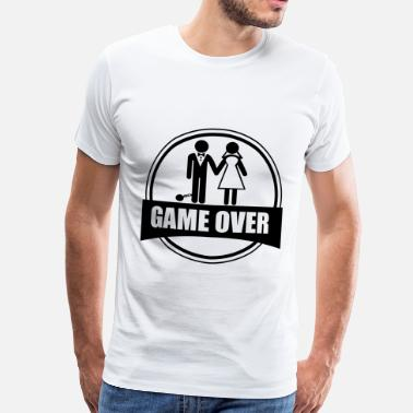 Game Over Game over - Stag do - Hen party - Funny - Men's Premium T-Shirt