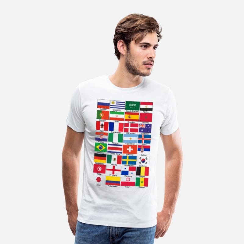 2018 T-Shirts - World Cup 2018 - Men's Premium T-Shirt white