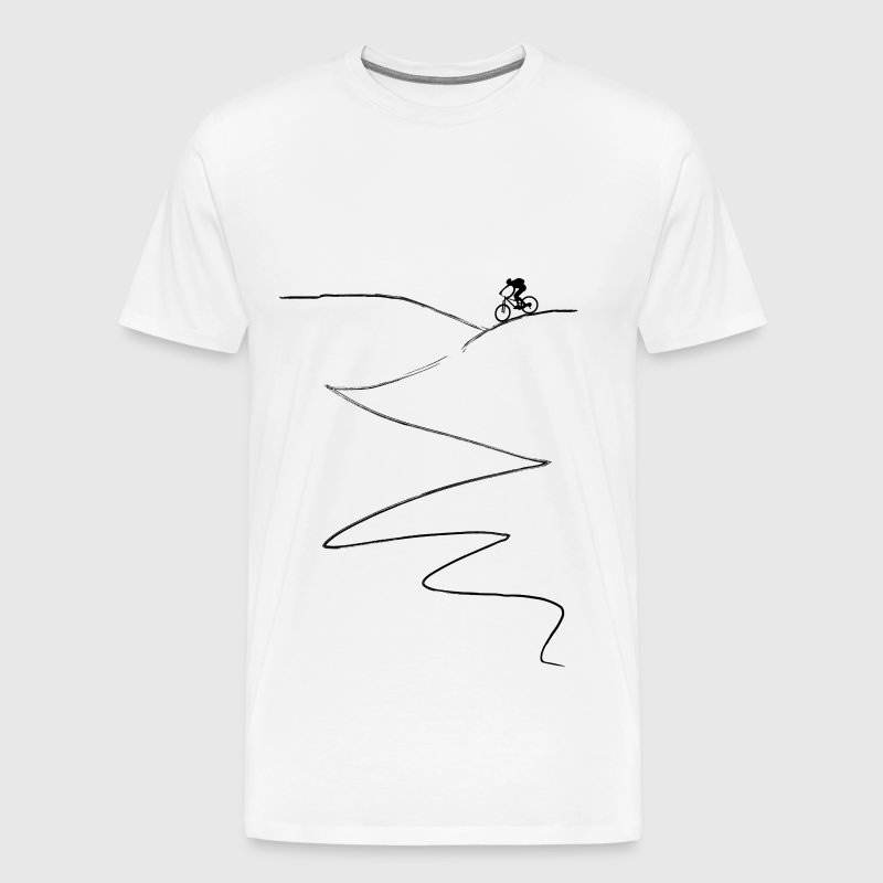 MTB mountainbike mountainbike - Mannen Premium T-shirt