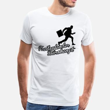Business Run Freilaufender Bürohengst - Businessrun - Männer Premium T-Shirt
