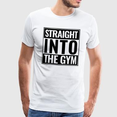 Straight Into The Gym Logo schwarz - Männer Premium T-Shirt