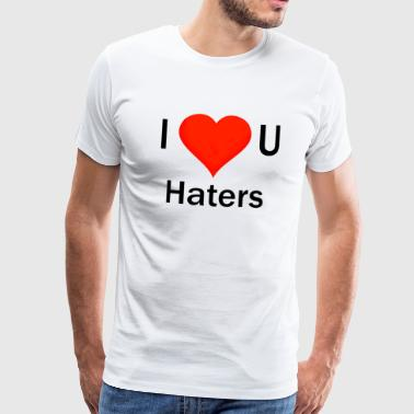 Free Party Ik hou van je haters wit - Mannen Premium T-shirt