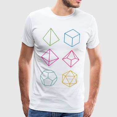 Minimal dnd (dungeons and dragons) dice - Männer Premium T-Shirt