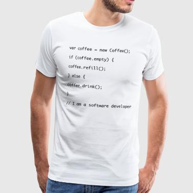 Recharge de café code Javascript - T-shirt Premium Homme