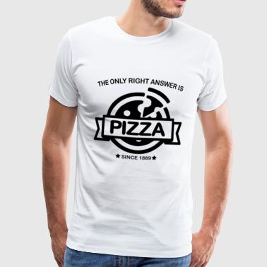 Caesar THE ONLY RIGHT ANSWER IS PIZZA (b) - Männer Premium T-Shirt