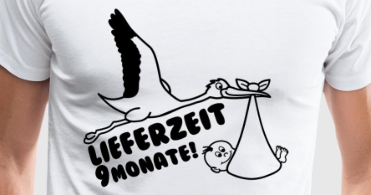 Lieferzeit 9 Monate mit Storch Baby von cryptocloud | Spreadshirt
