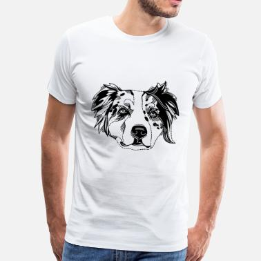 Australian Shepherd Cartoon Australian Shepherd - Men's Premium T-Shirt