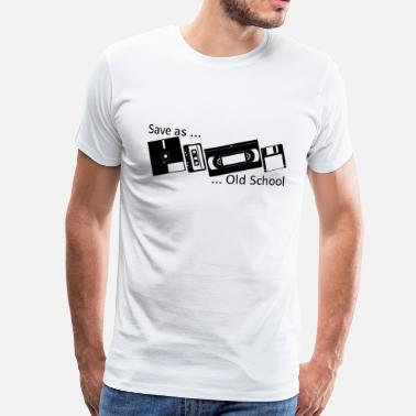 Old School Save as ... Old School - Herre premium T-shirt