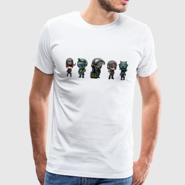 R6 rainbow six characters - T-shirt Premium Homme