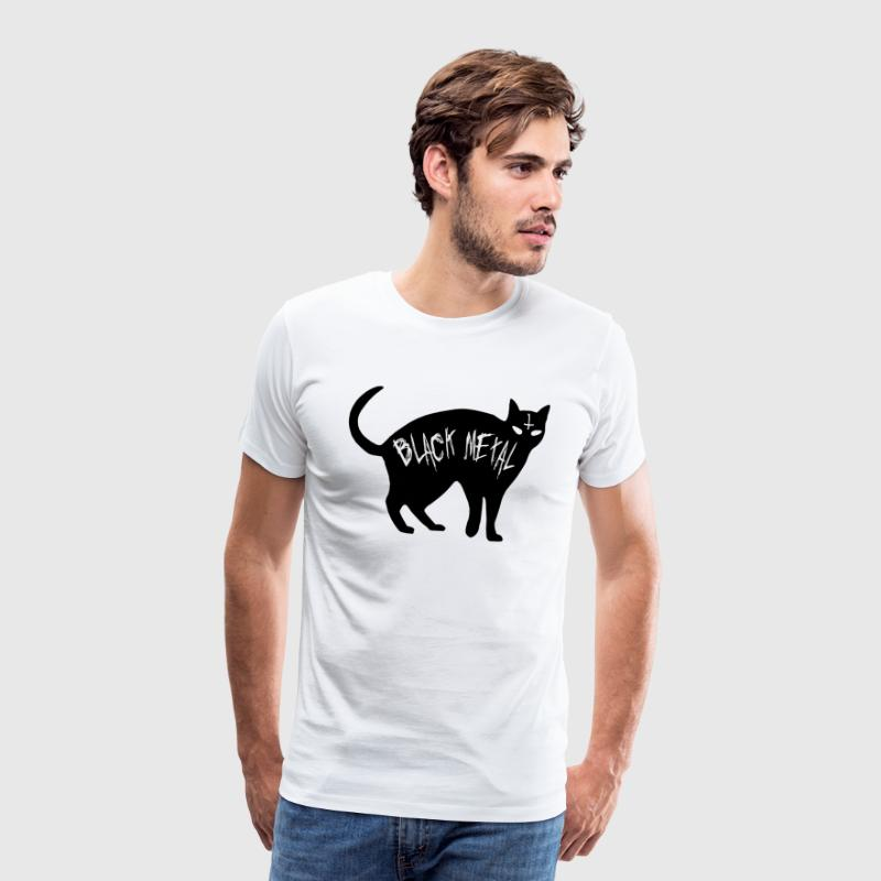 Cat Black Metal - Black Metal Cat - T-shirt Premium Homme