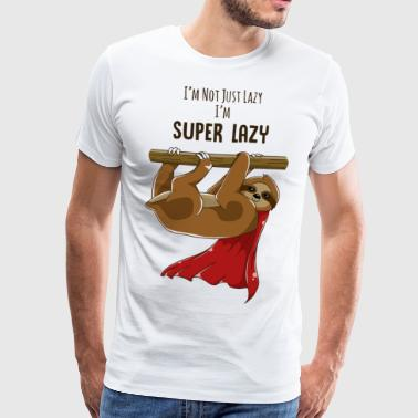 sloth super lazy muffle monday - Men's Premium T-Shirt